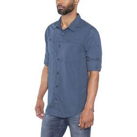 Craghoppers Kiwi Trek Longsleeve Shirt Men Vintage Indigo